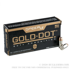 1000 Rounds of .40 S&W Ammo by Speer Gold Dot - 180gr JHP