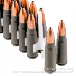 40 Rounds of 7.62x39mm Ammo by Tula - 122gr HP