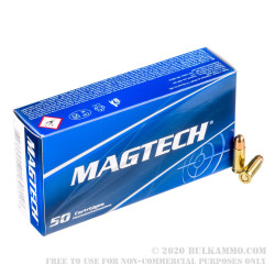 50 Rounds of .25 ACP Ammo by Magtech - 50gr FMJ