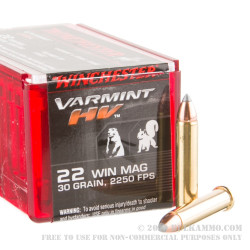 1000 Rounds of .22 WMR Ammo by Winchester - 30gr V-Max