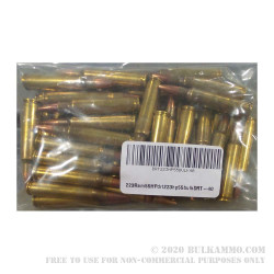 40 Rounds of Remanufactured .223 Ammo by Dynamic Research Technologies - 55gr Pre-Fragmented