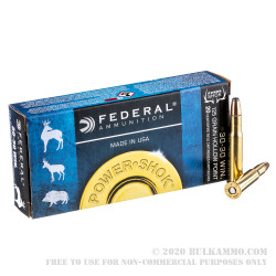 200 Rounds of 30-30 Win Ammo by Federal - 125gr HP