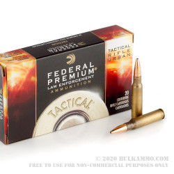 20 Rounds of .308 Win Ammo by Federal Premium Tactical Tru - 125gr OTM