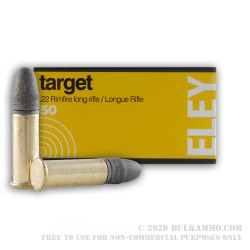 500  Rounds of .22 LR Ammo by Eley Target - 40gr LRN