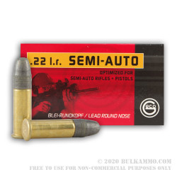 500 Rounds of .22 LR Ammo by GECO - 40gr LRN