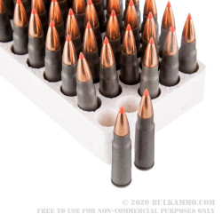 50 Rounds of 7.62x39mm Ammo by Hornady - 123gr SST