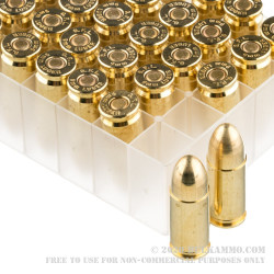 50 Rounds of 9mm Ammo by Fiocchi - 115gr FMJ