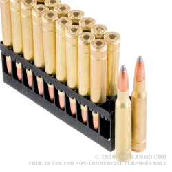 20 Rounds of 30-06 Springfield Ammo by Golden Bear - 168gr SP