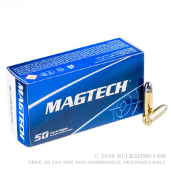 50 Rounds of .38 Spl Ammo by Magtech - 158gr LRN