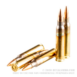 20 Rounds of .223 Ammo by ADI - 69gr Sierra MatchKing HPBT