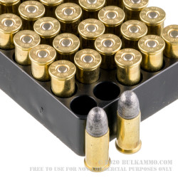 50 Rounds of .38 S&W Ammo by Remington Performance Wheel Gun - 146gr LRN