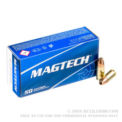 50 Rounds of 9mm Ammo by Magtech - 115gr JHP