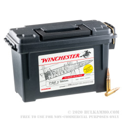 120 Rounds of 7.62 NATO Ammo by Winchester - 147gr FMJ