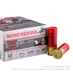 25 Rounds of 12ga Ammo by Winchester - 1 1/8 ounce BB (Steel)