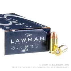 50 Rounds of .45 ACP Ammo by Speer - 185gr FMJ