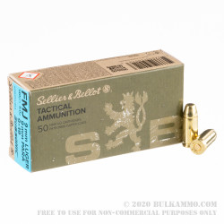 50 Rounds of 9mm Subsonic Ammo by Sellier & Bellot - 140gr FMJ