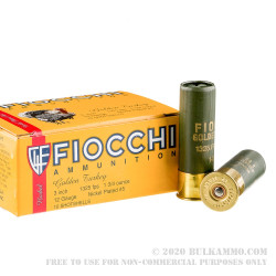 250 Rounds of 12ga Ammo by Fiocchi Turkey Load - 1 3/4 ounce #5 shot