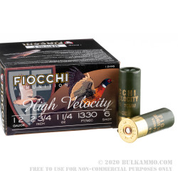 25 Rounds of 12ga Ammo by Fiocchi - 1 1/4 ounce #6 Shot