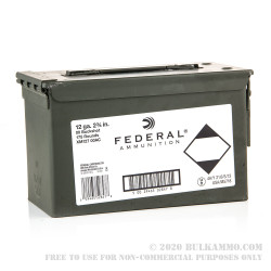 175 Rounds of 12ga 9P Ammo by Federal in Ammo Can - 00 Buck