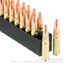 20 Rounds of .300 AAC Blackout Ammo by Hornady Subsonic - 190gr Sub-X Polymer Tipped