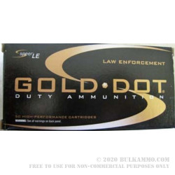 50 Rounds of .40 S&W Ammo by Speer - 180gr JHP