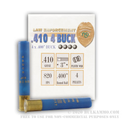 """250 Rounds of .410 Ammo by NobelSport -  .4"""" Buck"""