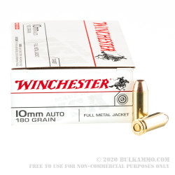 500 Rounds of 10mm Ammo by Winchester USA - 180gr FMJ