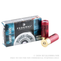 5 Rounds of 12ga Ammo by Federal - 1 ounce Sabot Slug