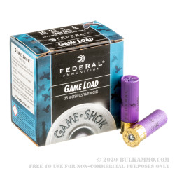 25 Rounds of 16ga Ammo by Federal - 1 ounce #6 shot