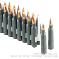 20 Rounds of .223 Rem Ammo by Tula - 55gr FMJ