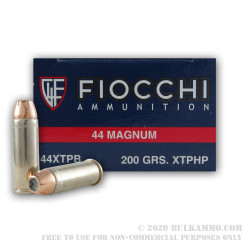 50 Rounds of .44 Mag Ammo by Fiocchi - 200gr JHP XTP