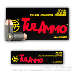 450 Rounds in Spam Can of .45 ACP Ammo by Tula - 230gr FMJ