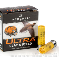 """250 Rounds of 20ga Ammo by Federal Ultra - 2-3/4"""" 7/8 ounce #7 1/2 shot"""