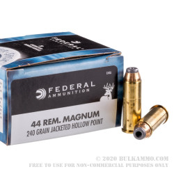 20 Rounds of .44 Mag Ammo by Federal - 240gr JHP