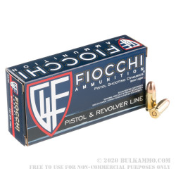1000 Rounds of 9mm Ammo by Fiocchi - 147gr FMJ
