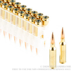 20 Rounds of 6.5 Creedmoor Ammo by Federal Gold Medal - 140gr MatchKing HPBT