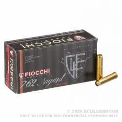 50 Rounds of 7.62x38mm Nagant Ammo by Fiocchi - 97 gr FMJ