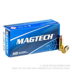 1000 Rounds of 9mm Subsonic Ammo by Magtech - 147gr FMJ FN