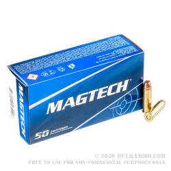 1000 Rounds of .38 Special Ammo by Magtech - 125gr FMJ FN