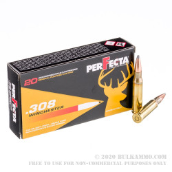 20 Rounds of .308 Win Ammo by Fiocchi PerFecta - 150gr SP