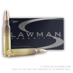 500 Rounds of 5.56x45 Ammo by Speer Lawman - 55gr FMJ