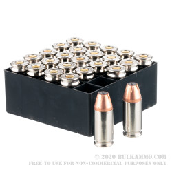 25 Rounds of 9mm Ammo by Fiocchi - 115gr XTP  Jacketed Hollow Point