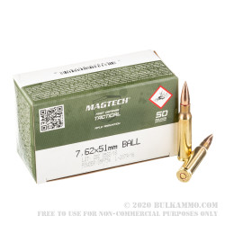 400 Rounds of 7.62x51mm Ammo by Magtech First Defense - 147gr FMJ