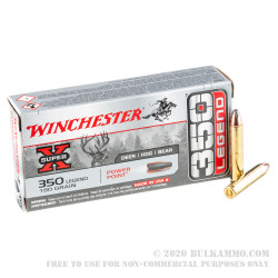 20 Rounds of .350 Legend Ammo by Winchester Super-X - 180gr Power-Point