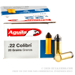 500 Rounds of .22 LR Ammo by Aguila Colibri - 20gr LRN