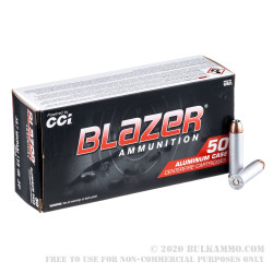 1000 Rounds of .357 Mag Ammo by Blazer - 158gr JHP