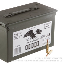 200 Rounds of .308 Win Ammo by Federal American Eagle - 150gr FMJBT