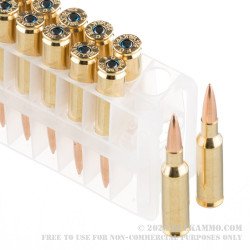 20 Rounds of .224 Valkyrie Ammo by Federal Premium - 90gr Sierra MatchKing HPBT