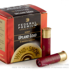 25 Rounds of 28ga Ammo by Federal Wing-Shok - 3/4 ounce #6 shot