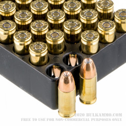 50 Rounds of 9mm Ammo by Magtech - 124gr JHP